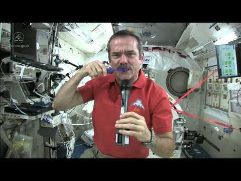 Chris Hadfield Brushes his Teeth in Space - UCdNtqpHlU1pCaVy2wlzxHKQ