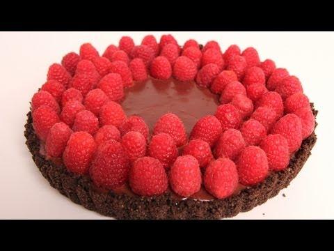 Chocolate Raspberry Tart Recipe - Laura Vitale - Laura in the Kitchen Episode 317 - UCNbngWUqL2eqRw12yAwcICg