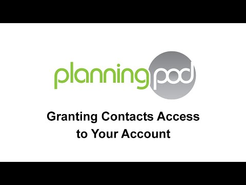 Providing Access to your Planning Pod Account to Other Users