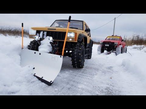 ОЧИСТКА ДОРОГИ ОТ СНЕГА ... Радиоуправляемый снегоуборщик ... RC snow plow - UCX2-frpuBe3e99K7lDQxT7Q
