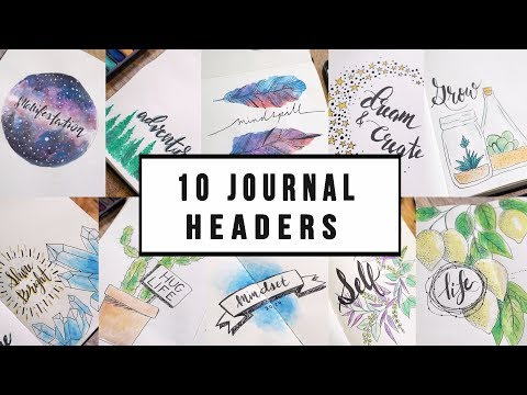 10 CREATIVE JOURNAL TITLE IDEAS + THEMES  | ANN LE