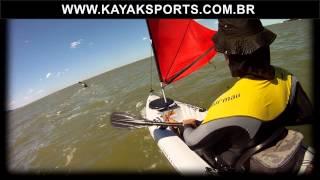 Caiaque barracuda com vela