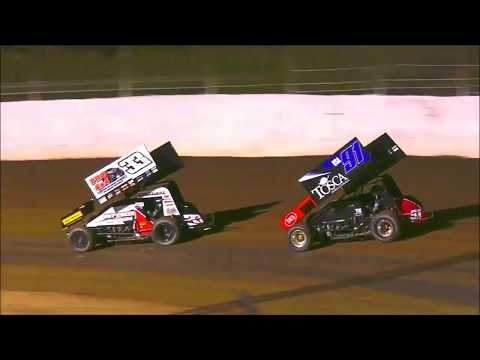 Simpson Speedway Highlights $10K to Win 360 Sprintcars 12-1-2019 - dirt track racing video image