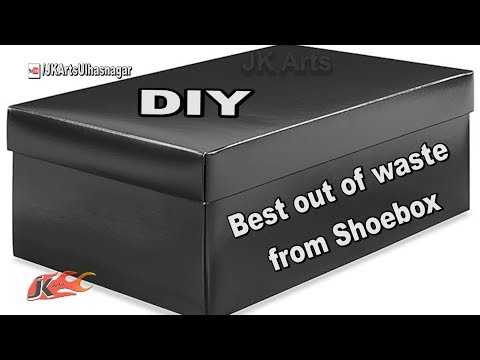 How to reuse Waste shoe boxes   Best out of waste   School project for kids   JK Arts 1341 - default