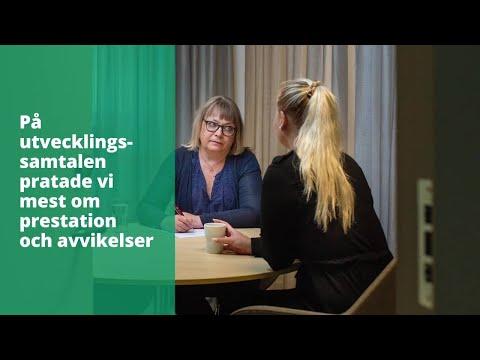 Jag vill se mina medarbetare växa. Anna Lörqvist, enhetschef med socionomutbildning, berättar