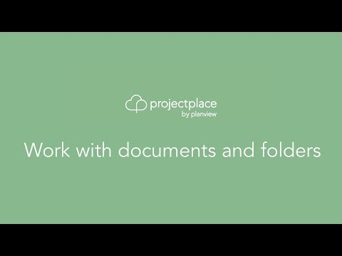 Work with documents and folders