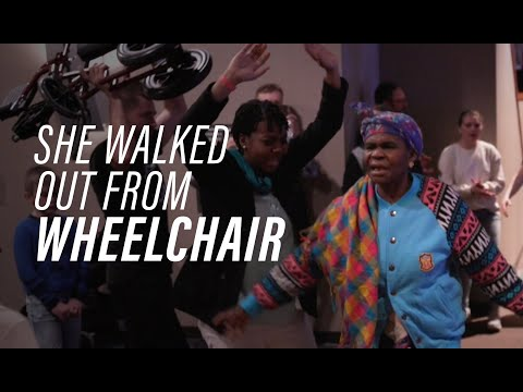 She Walks Out of Her Wheelchair - Healing Testimony