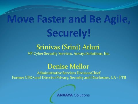GTI2017 Sn15b:  Move Faster and Be Agile Securely -  Anvaya Solutions