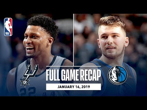 Full Game Recap: Spurs vs Mavericks | Luka Doncic's 5th Straight 25+ Point Game