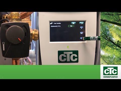 Inställning av växelventiler på CTC EcoZenith i550 Pro