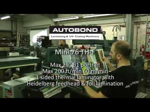 Autobond Mini 76 THF on test for customer in Belgium