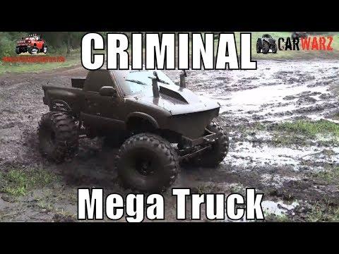 CRIMINAL Mega Chevy Truck Puts On Show At Bentley Lake Road Mud Bog Fall 2018