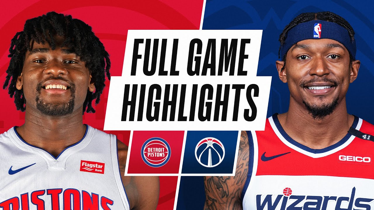 PISTONS at WIZARDS   FULL GAME HIGHLIGHTS   April 17, 2021