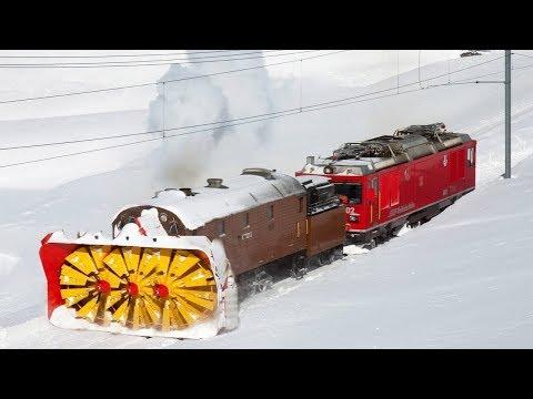 Awesome Powerful Snow Plow Train Blower Through Deep Snow railway tracks Full HD Compilation - UCjTARUUMhy-jdAV4tgZYslQ