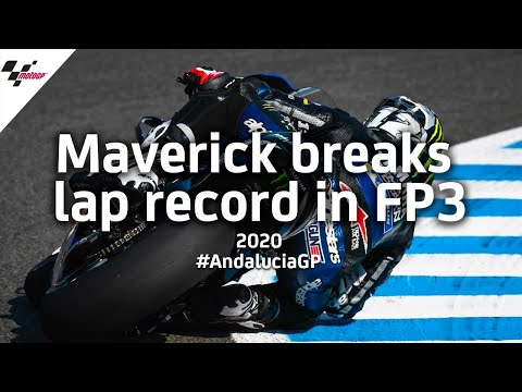 OnBoard: Viñales smashes Jerez lap record in FP3 | #AndaluciaGP