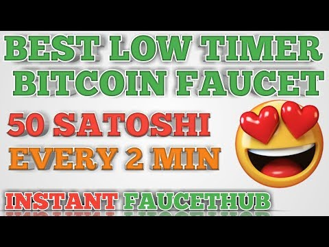BEST LOW TIMER BITCOIN FAUCET || CLAIM 50 SATOSHI EVERY 2 MIN || INSTANT FAUCETHUB