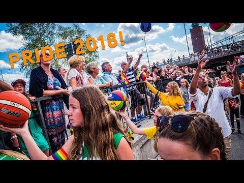 Svensk Basket i Prideparaden 2018! 🏳️🌈