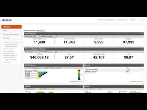 Apsalar Mobile App Analytics Demo Video 2013