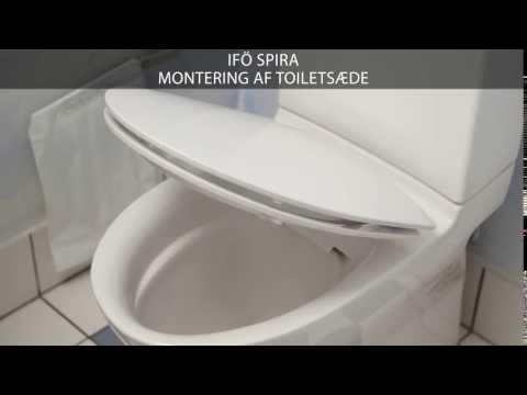 Montering af toiletsæde på et Ifö Spira toilet
