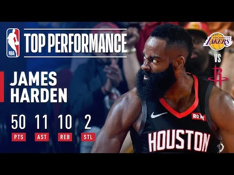 James Harden EXPLODES for 50-Point Triple-Double In Win Over Lakers | December 13, 2018