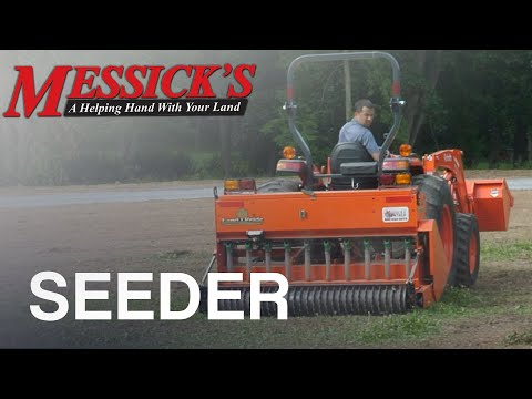 Seeding a new lawn with the LandPride OS1572 seeder Picture