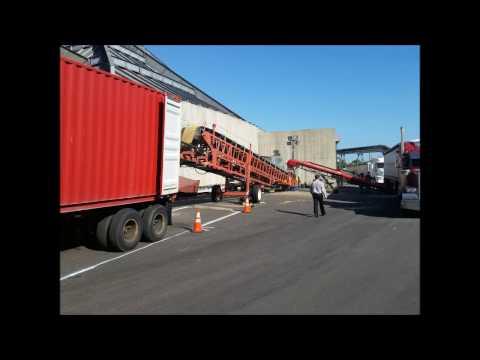 Telescopic Conveyor Loading 40ft Containers