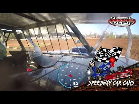 #10P Dayton Pursley - B-Mod - 04-11-2021 Springfield Raceway - In Car Camera - dirt track racing video image