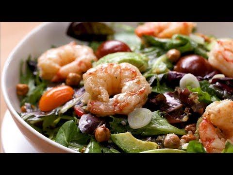 How to Make a Seared Shrimp and Avocado Salad Recipe ? Tasty