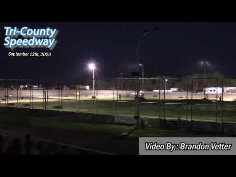 Tri-County Speedway INEX Legends A-Main (Sauerkraut 500 Night #1) (9/12/20) - dirt track racing video image