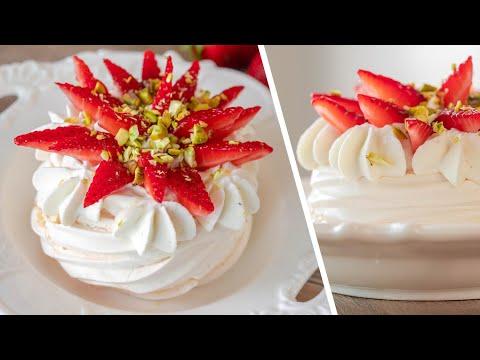 ДЕСЕРТ МИНИ ПАВЛОВА ? вкусные пирожные с клубникой и лимонным кремом ? простой рецепт | ЛЕТНЕЕ МЕНЮ