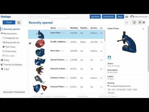 What's New in Onshape (January 13th, 2017) Import Improvements