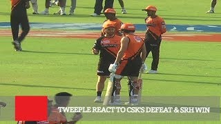 Tweeple React To CSK's Defeat & SRH Win