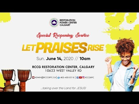 Wisdom for GREATER GLORY - Reopening PRAISE SERVICE