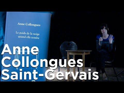 Le poids de la neige quand elle tombe Anne Collongues Saint-Gervais Mont-Blanc  littérature montagne