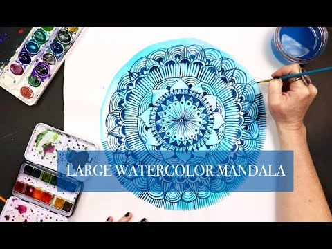large watercolor mandala