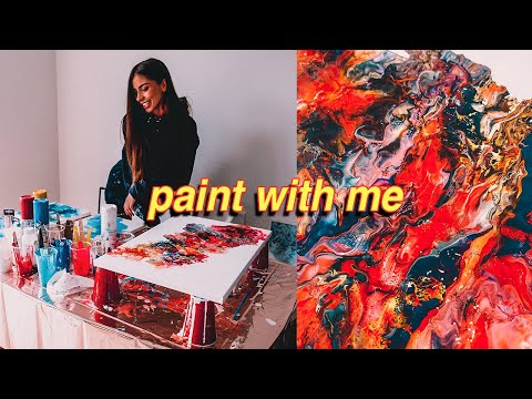 Paint Fluid Art With Me! ACRYLIC POURING FOR BEGINNERS | STEP BY STEP