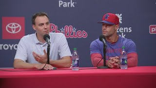 Matt Klentak, Gabe Kapler Hold Press Conference On Charlie Manuel Being Names Phillies Hitting Coach
