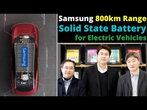Samsung Develops 800 KM Range Solid State Battery for EVs