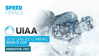 Rabenstein, Italy l Men's Speed Finals l 2019 UIAA Ice Climbing World Cup