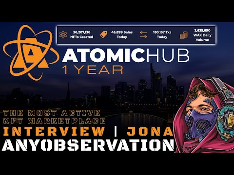 Atomichub 1 year anniversary | The Most Active NFT Marketplace | Interview