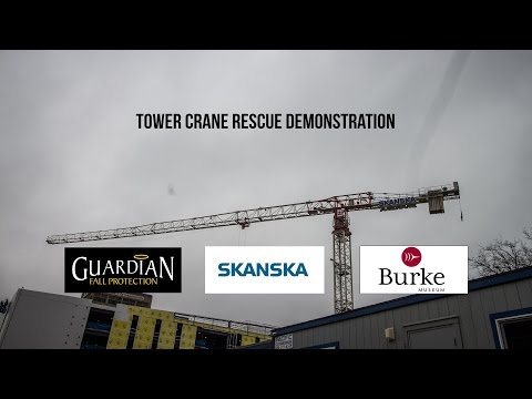 Tower Crane Rescue Demonstration  at Seattle's newest museum