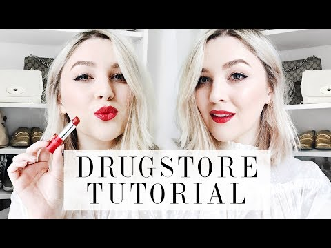 GET READY WITH ME: DRUGSTORE EVENING TUTORIAL | RED LIP & WINGED LINER | I Covet Thee | AD