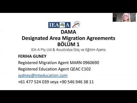 Feriha Güney'le Avustralya Göç Olanakları : Victoria DAMA - Designated Area Migration Agreements