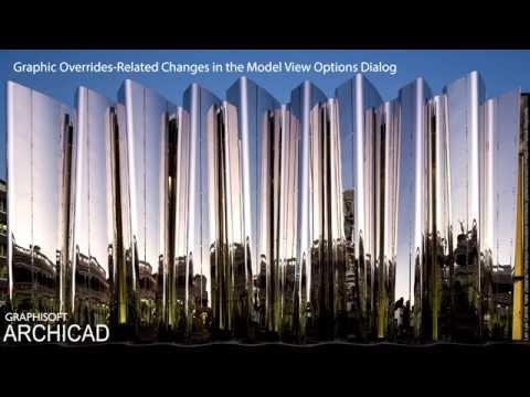 ARCHICAD 20 - Graphic Overrides-related Changes in the Model View Options Dialog