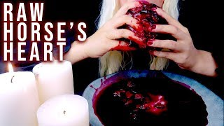 ASMR SAVAGE RAW HORSE'S HEART | GAME OF THRONES | EDIBLE PRANK | EATING SOUNDS