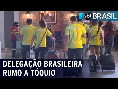 Atletas se despedem de familiares proibidos de viajar a Tóquio | SBT Brasil (16/07/21)