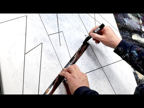 Abstract Painting Demonstration With Transparency | Samen
