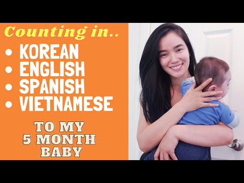 Talking in different Languages to my 5 month baby
