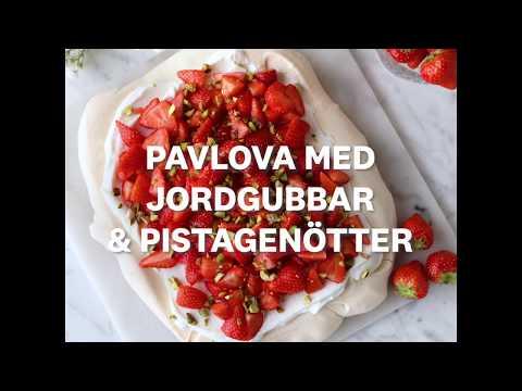 Pavlova med jordgubbar och pistagenötter - WW ViktVäktarna