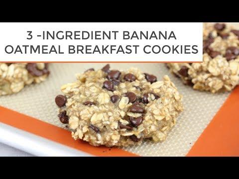 3-Ingredient Banana Oatmeal Breakfast Cookies - UCj0V0aG4LcdHmdPJ7aTtSCQ
